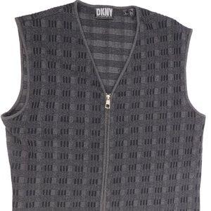 DKNY Sweater Full Zip Sweater Vest